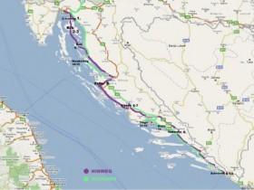 Urlaub Kroatien'08 - Routen